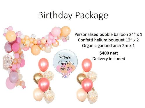 Birthday Package - Organic arch