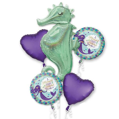 Balloon Bouquet Sea Horse Mermaid