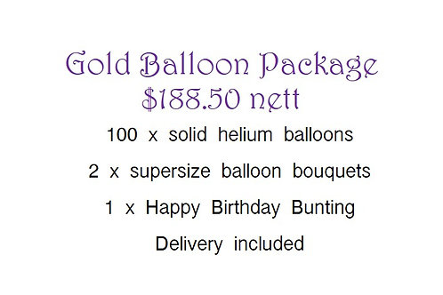 Balloon Package -Gold