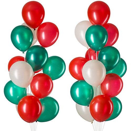 Christmas Helium Latex Balloon Bouquet (pair)