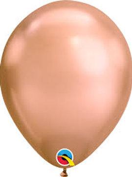 Helium balloon - Chrome Rose Gold 12 inch
