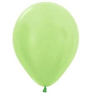Helium Balloon - Pearl Light Green 12 inch