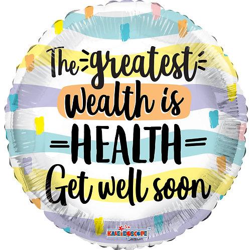 Foil Balloon Health is Wealth
