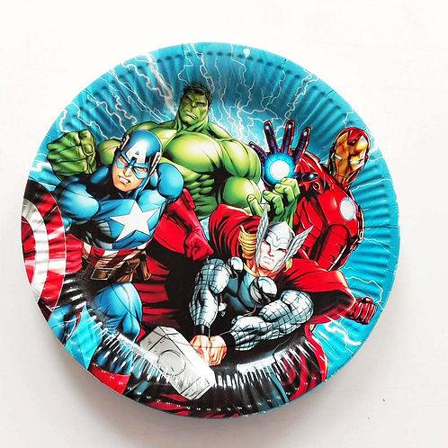 AVENGER 7 inch paper plate