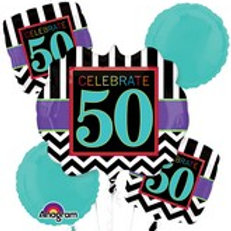 Balloon Bouquet Celebrate Stripes
