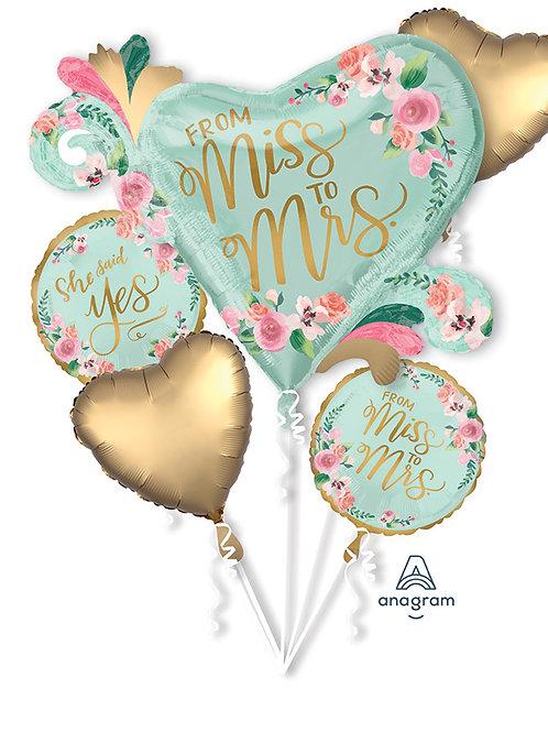 Balloon Bouquet Wedding Miss To Mrs