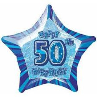 Foil Balloon 50th Star HBD
