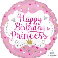 Foil Balloon Princess Pink HBD