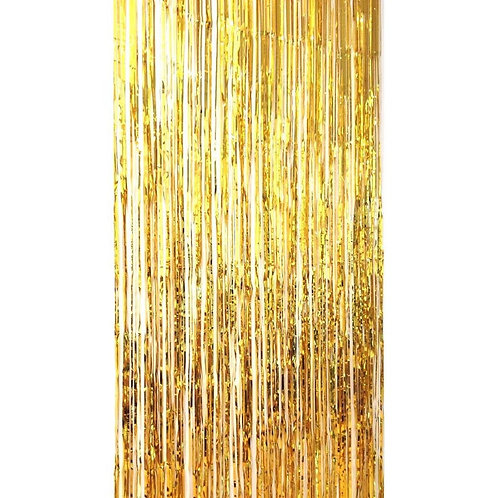 Metallic Foil Curtain 3m x 1m GOLD