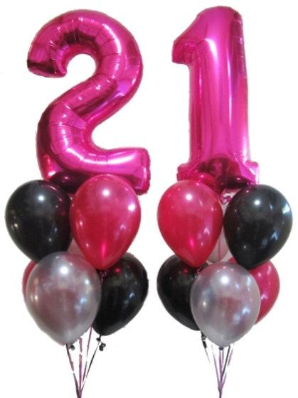 21st Balloon Set