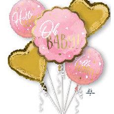 Balloon Bouquet Baby Girl Star