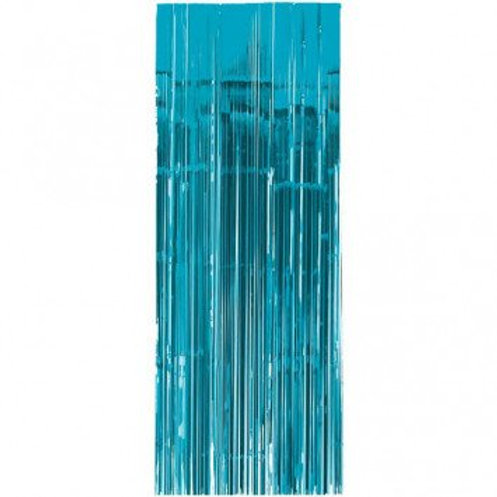 Metallic Foil Curtain 3m x 1m LIGHT BLUE
