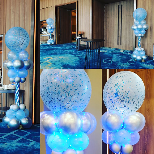 Led Light Design Column Balloons