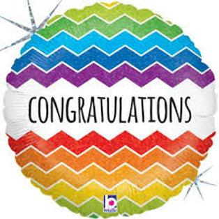 Foil Balloon Congratulation Chevron