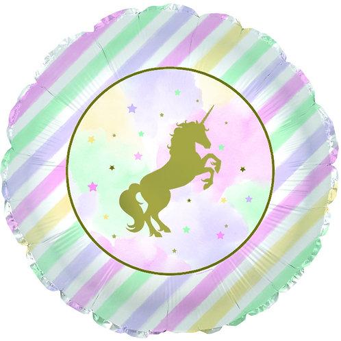 Foil Balloon -Rainbow Sparkle Unicorn