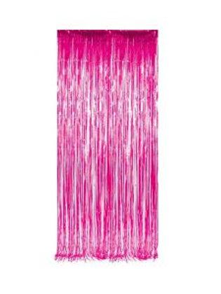 Metallic Foil Curtain 3m x 1m DARK PINK