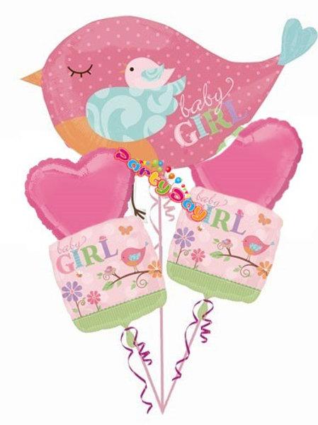 Balloon Bouquet Baby Girl Bird