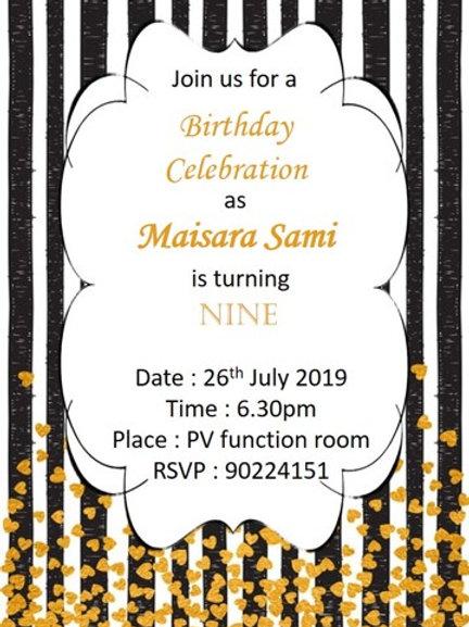 Customised Softcopy Invites