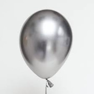 Helium balloon - Chrome Silver 12 inch