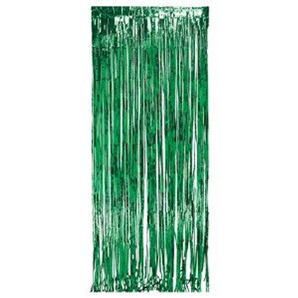 Metallic Foil Curtain 3m x 1m GREEN