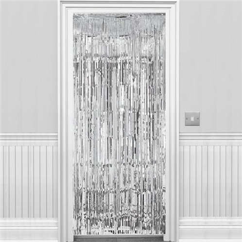Metallic Foil Curtain 3m x 1m SILVER