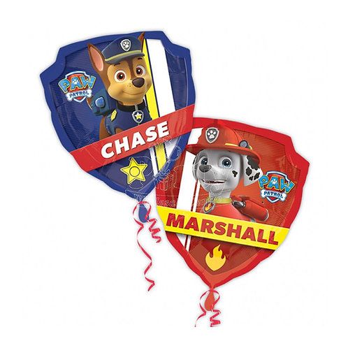 Balloon Super Shape Paw Petrol Badge