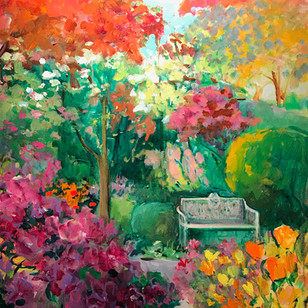Front Garden in the Spring | 20x24