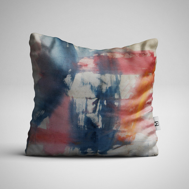 Abstract 001 Hand-painted Pillow