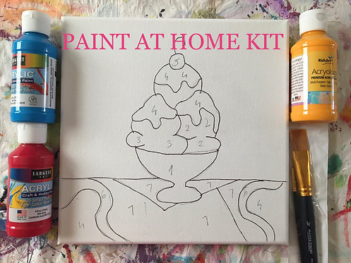 Paint at Home Kits ,, Coloring Canvas,,