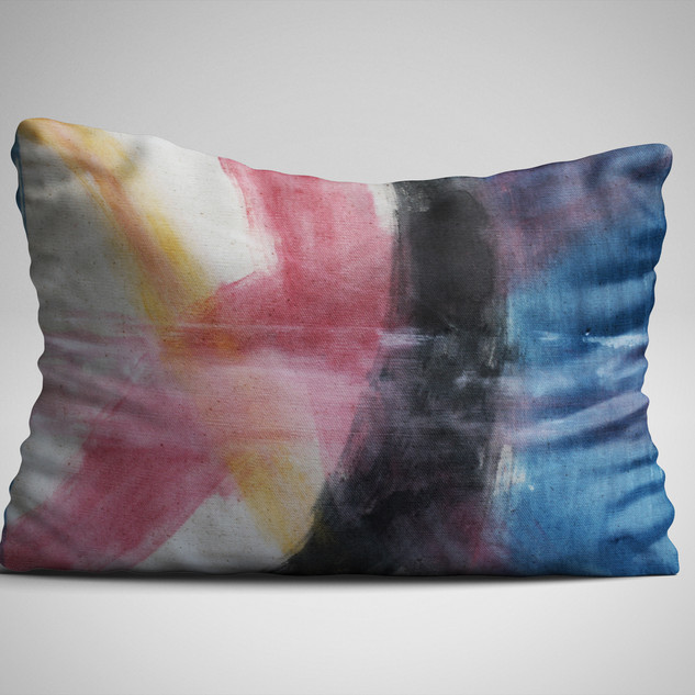 Abstract 002 Hand-painted Pillow