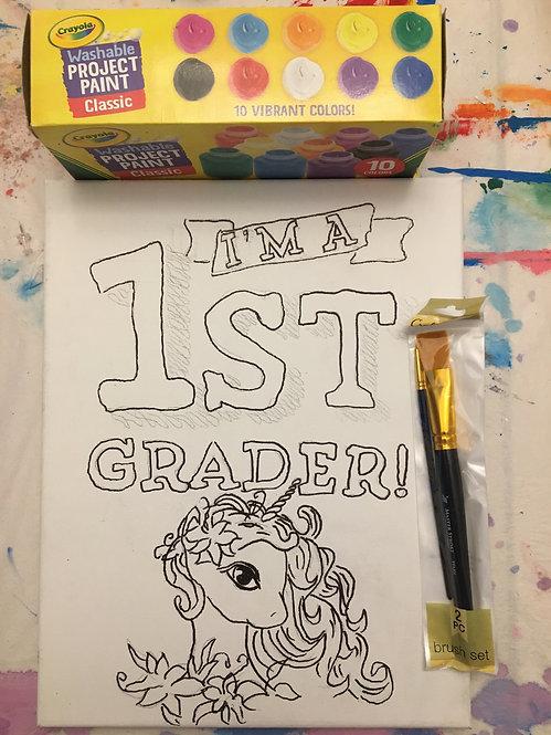 Paint at Home Kits ,, Coloring Canvas,,