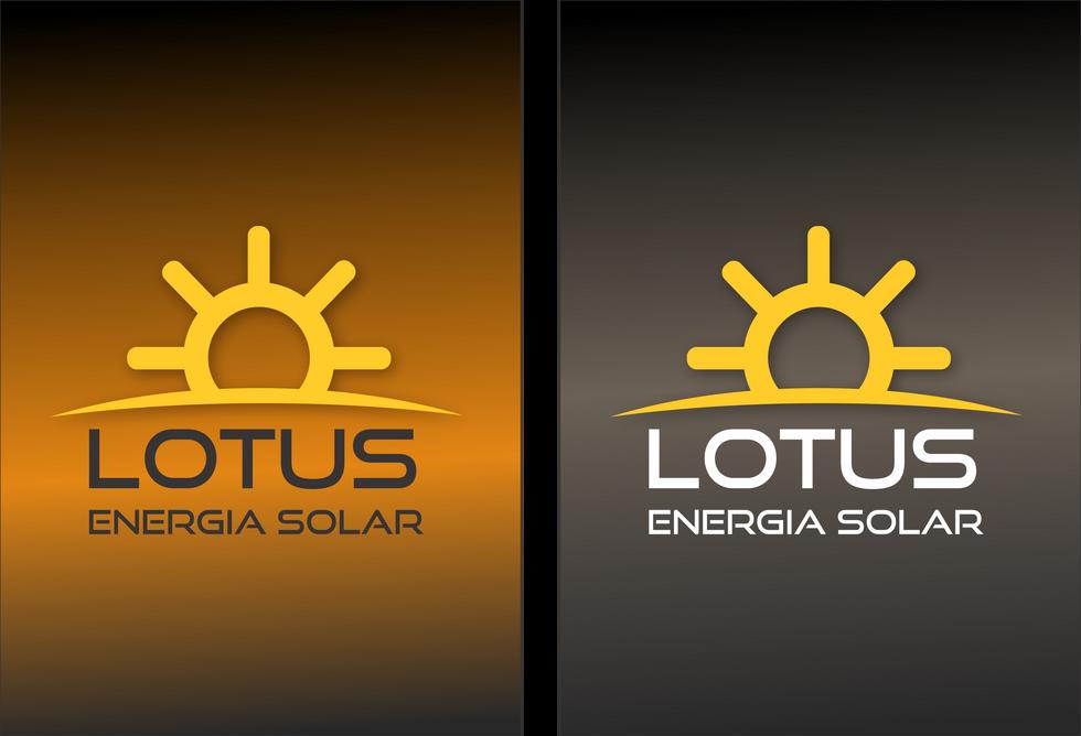 Criação da LOGOMARCA da empresa LOTUS ENERGIA SOLAR