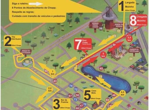 Veja o percurso da 1ª Corrida do Chopp de Holambra