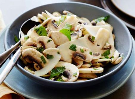 Salada de Cogumelos Fresco e Salsinha