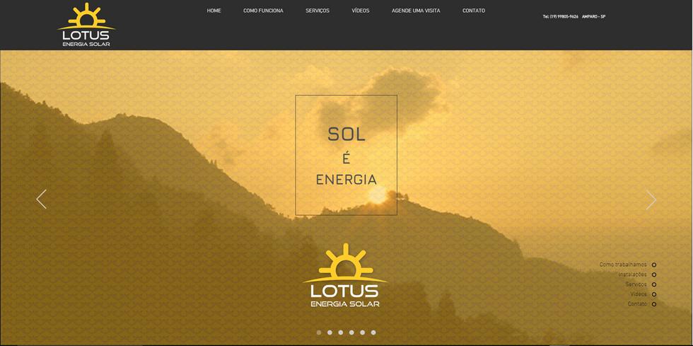 Site LOTUS ENERGIA SOLAR