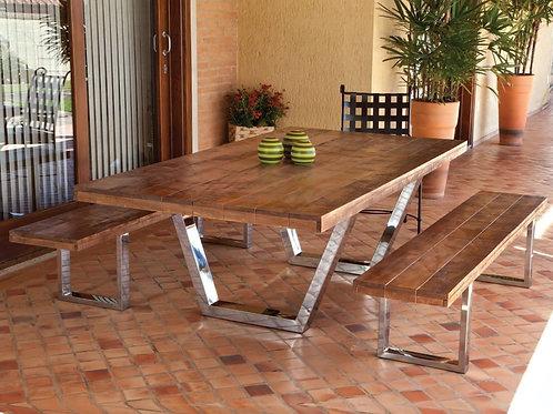 Mesa com bancos  Nil - Iron Design