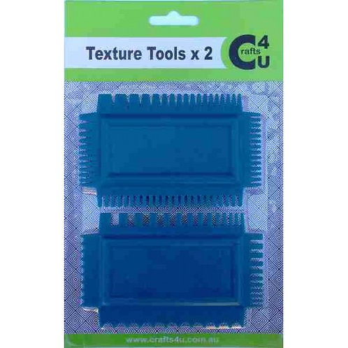 Crafts4U Art Comb Texture Tools 2 Pack