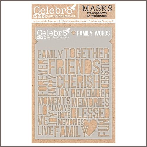 Celebr8 - Family Words Stencil