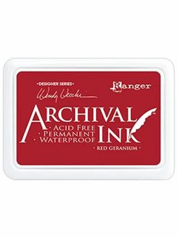 Ranger Archival Ink - Red Geranium