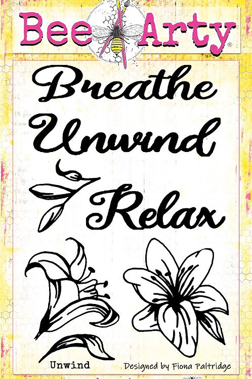 Bee Arty - Find Paradise - Unwind Clear Stamp Set