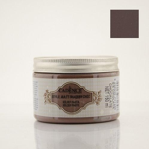 Cadence Style Matt Shabby Chic Relief Paste - Chocolate