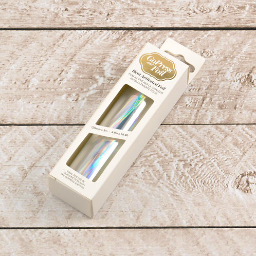 Couture Creations Hot Foil - Silver Iridescent Finish