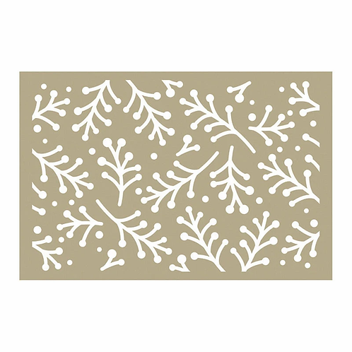 Couture Creations Be Merry - Holly Berry Sprigs Stencil