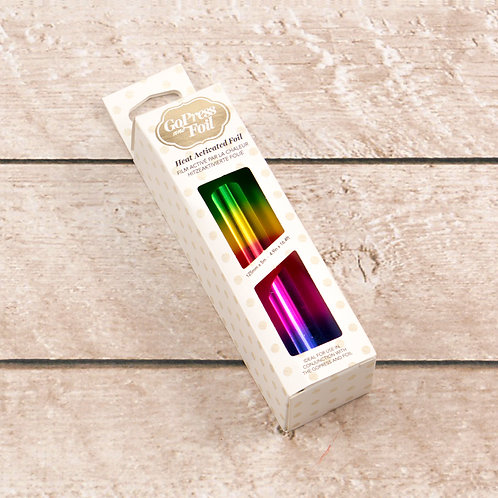 Couture Creations Hot Foil - Rainbow Bands Gradient Mirror Finish