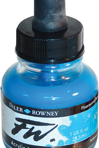 FW Acrylic Artist Ink - Fluroescent Blue