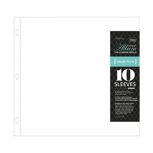 Couture Creations Album Refills - Standard 12x12 (10pc - White Paper Insert)