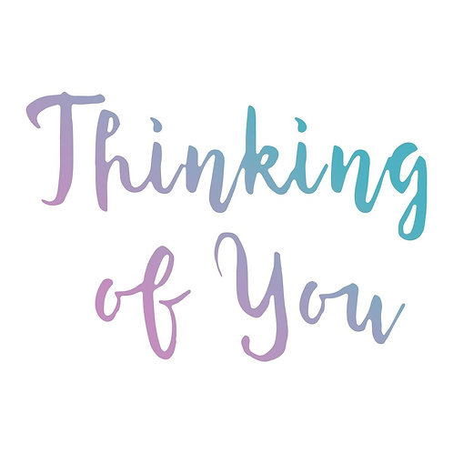 Couture Creations Le Petit Jardin Mini Stamp - Thinking of You