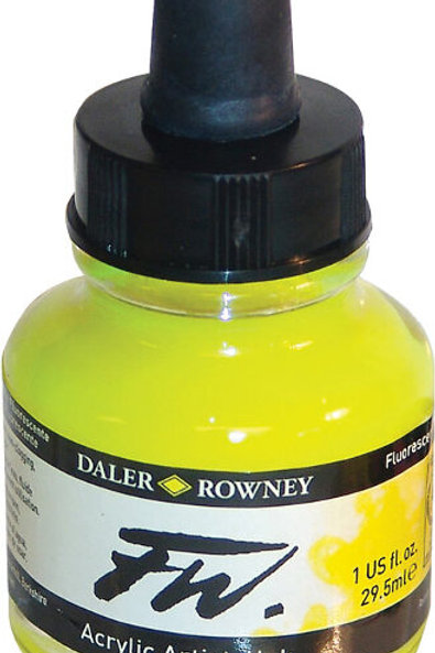 FW Acrylic Artist Ink - Fluroescent Yellow