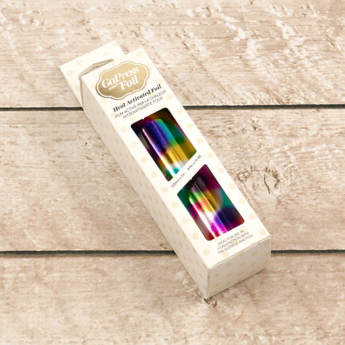 Couture Creations Hot Foil - Rainbow Spots Mirror Finish