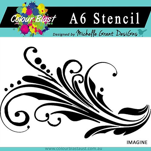 Bee Arty - Follow Your Dreams - Imagine A6 Stencil